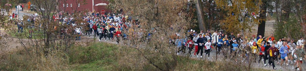 Marathon Runners Pine Tree Apple Orchard